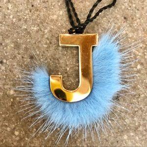 "Fendi ABClick ""Letter J"" Bag Charm Key Charm"